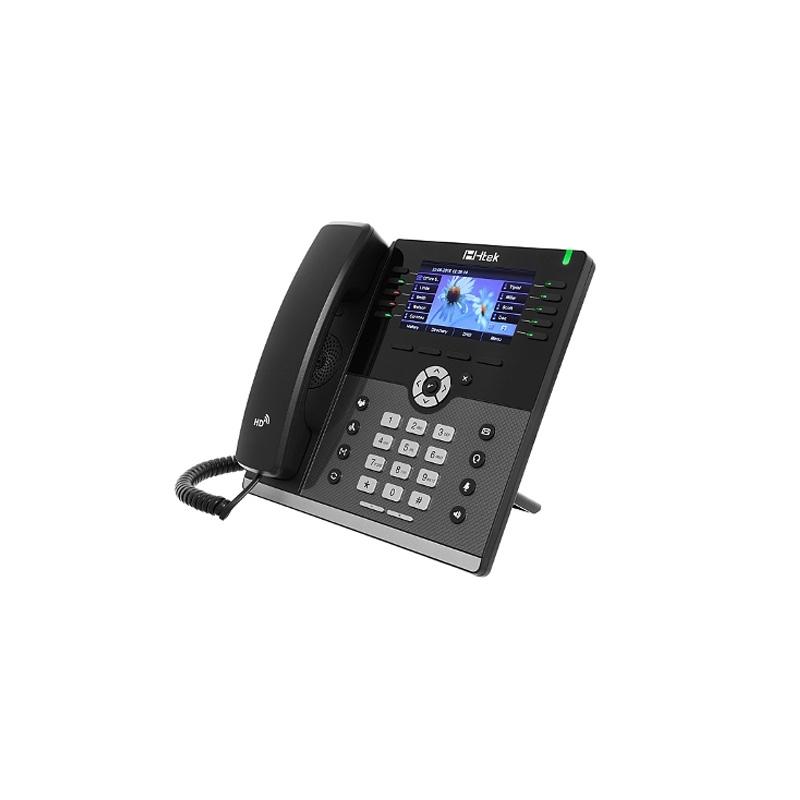 HTEK UC926E WiFi Bluetooth Gigabit VoIP IP PoE HD Phone 16-Lines w// Power Supply